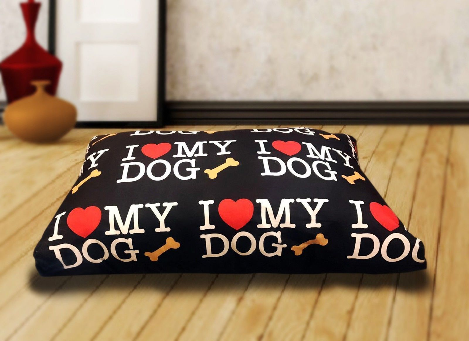 Dog Bed Removable Zipped Cover Washable Pet Bed Cushion