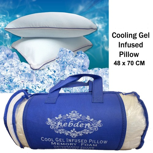 Memory Foam Cooling Gel Infused Pillows 40 x 70 cm