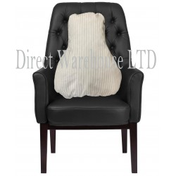 Satin Stripe Lumbar Back Support Velour Polycotton Cushion Comfort Armchair Disability Sale