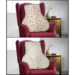 Twisted Floral Lumbar Back Support Cushion