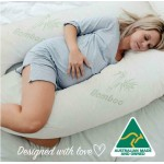 9ft U-Shaped Bamboo Pillow Hollowfibre Filled Total Body Comfort in Pregnancy Maternity Nursing