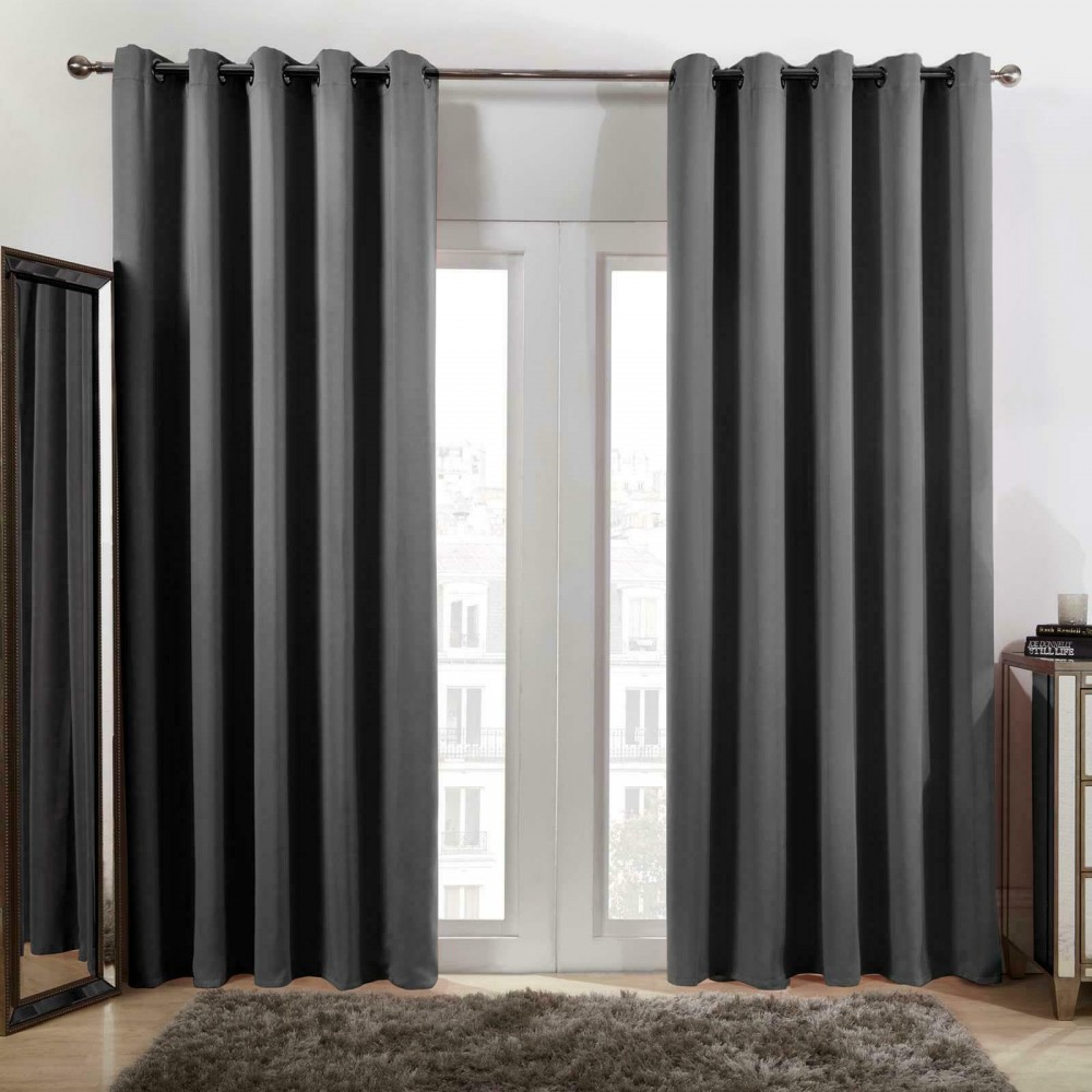 Thermal Blackout Curtains Eyelet Ring Top Ready Made Curtain