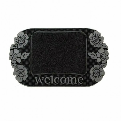 Heavy Duty Rubber Madeira Entrance Welcome Floral Door Mat Entrance Indoor Outdoor - Non Slip 45 x 75 cm