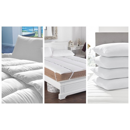 Hollow Fibre Duvet , Topper and 2 pillows (Student Bundle Offer)