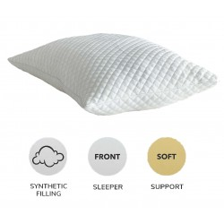 Pinsonic Quilted Soft As Down Pillows High Quality Hollowfibre Filled