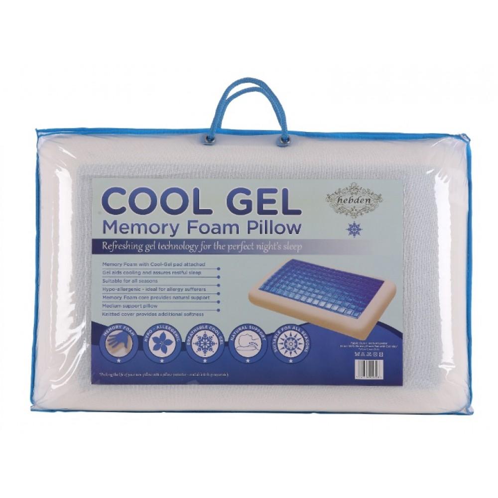 memory foam cooling gel pillow